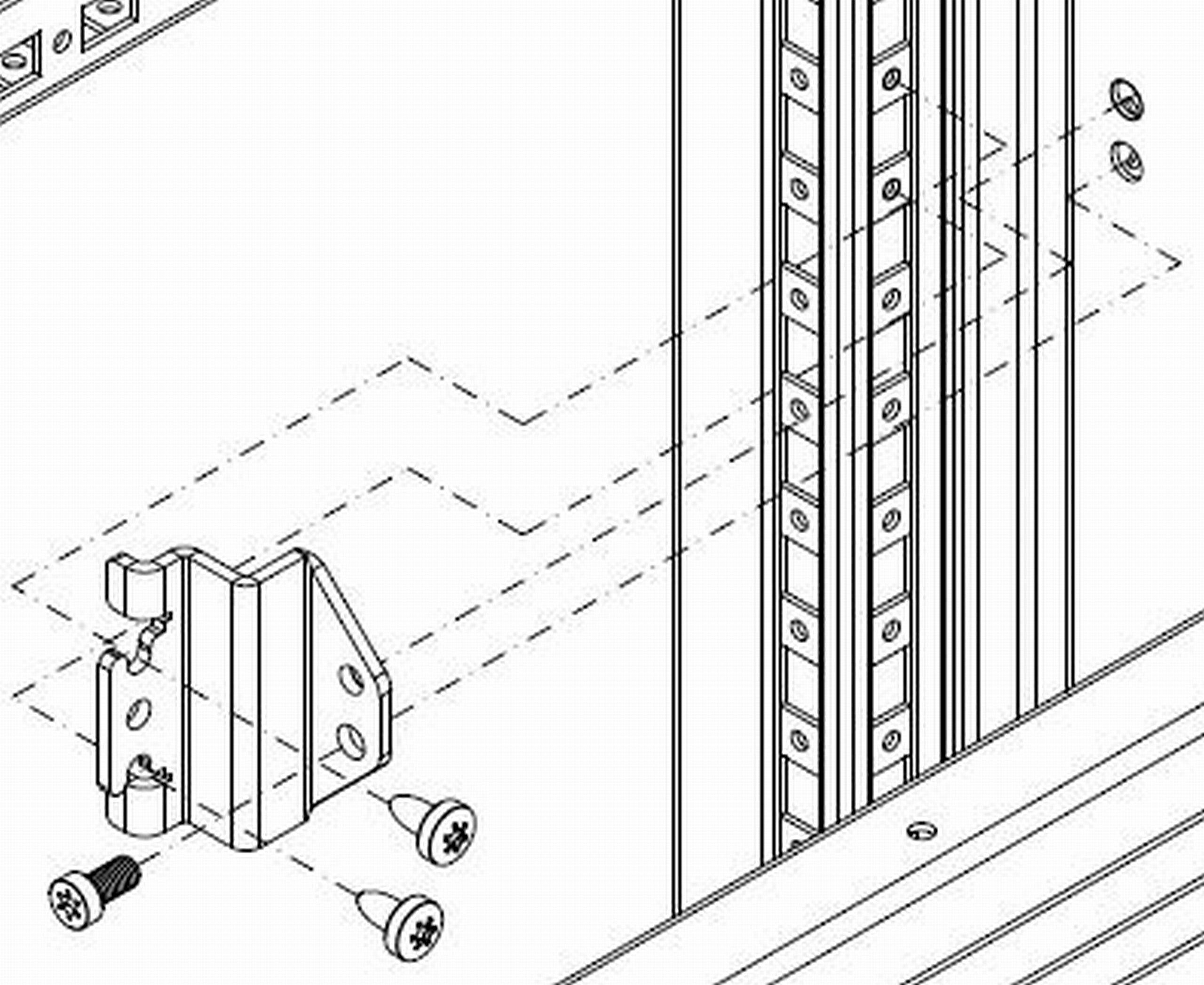 1 VE Anreihsatz für Trennwände ASCCJ120--