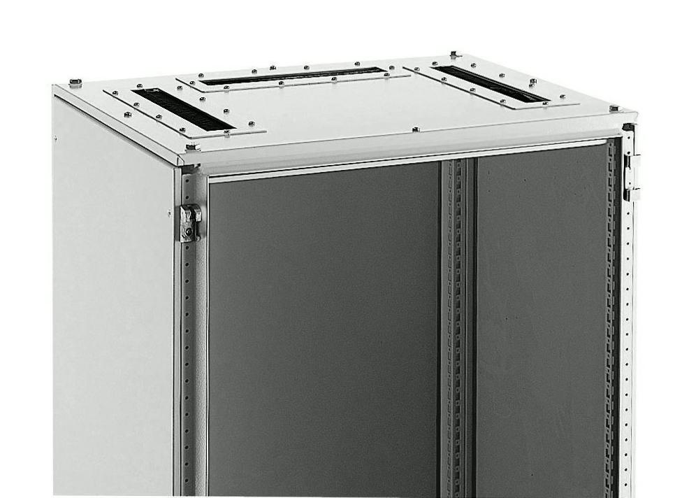 1 Stk Dach mit Bürste für Kabeleinführung BxH 600x600mm RAL 7035 ASRB0606-5