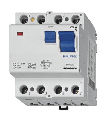 1 Stk FI-Schalter 100A, 4-polig, 100mA, Typ AC BC000110--