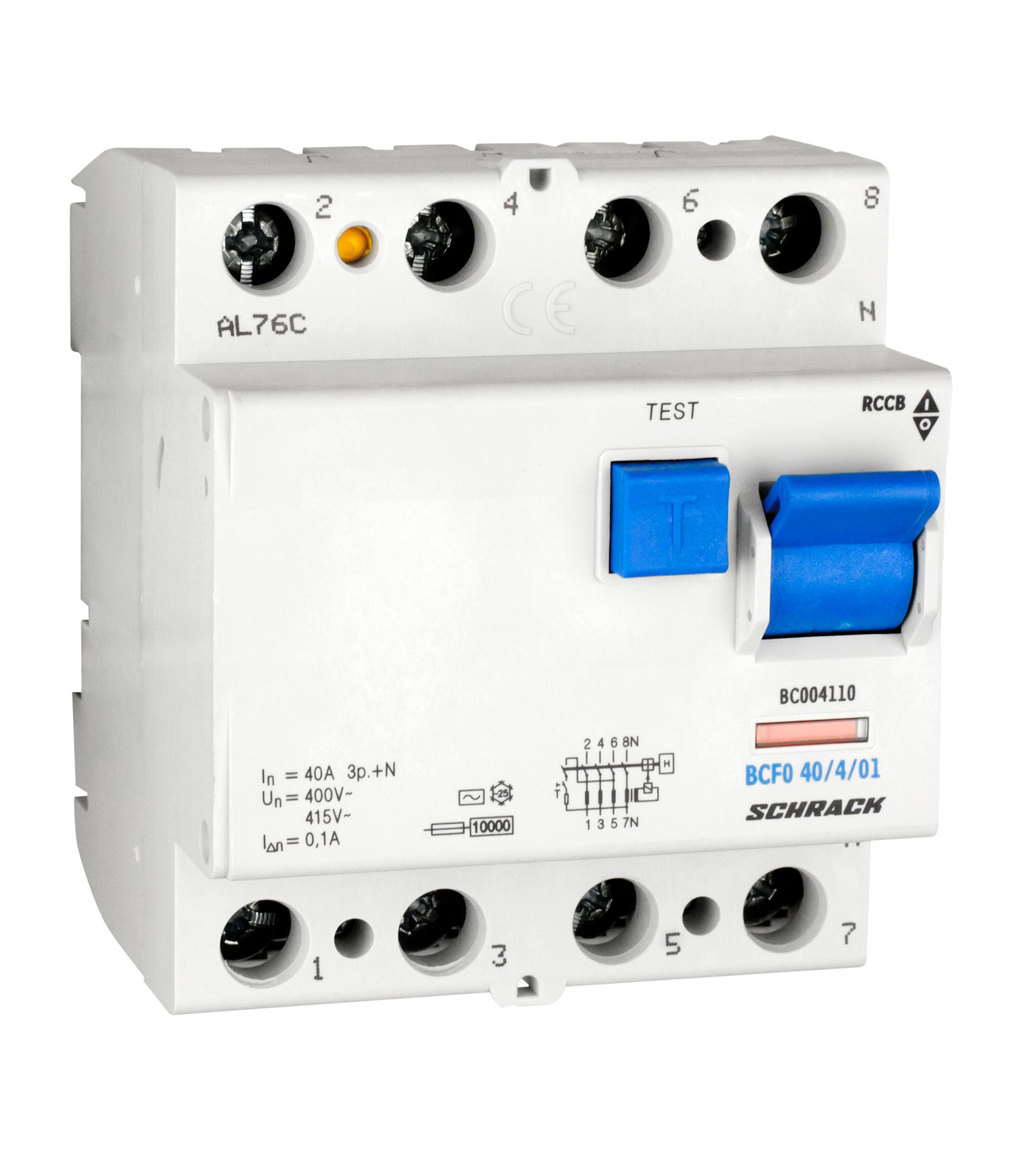 1 Stk FI-Schalter 40A, 4-polig, 100mA, Typ AC BC004110--