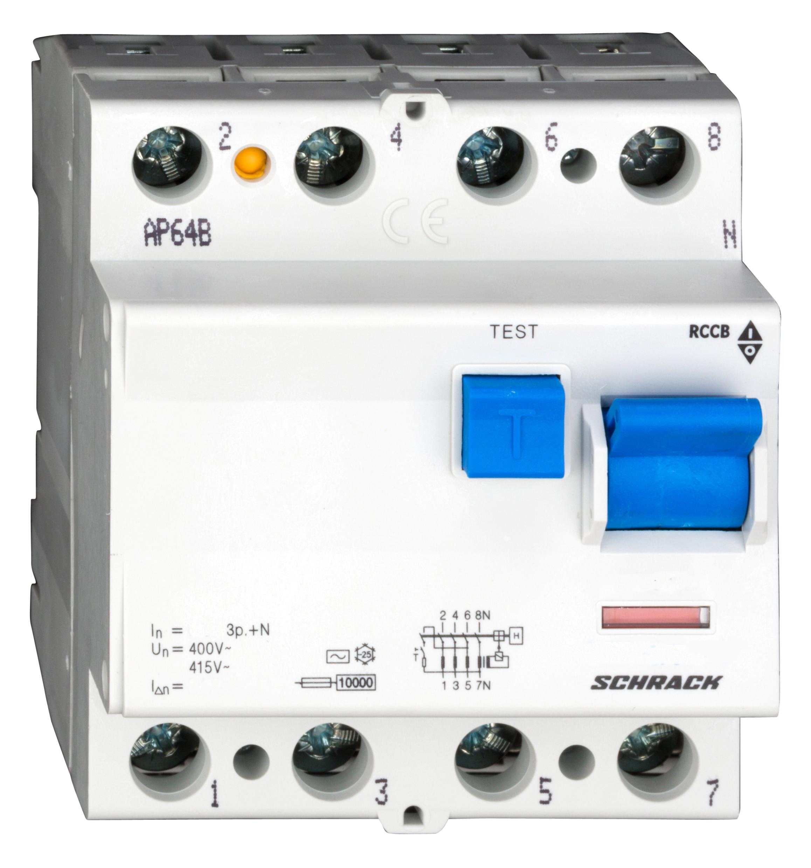 1 Stk FI-Schalter 63A, 4-polig, 100mA, Typ AC BC006110--