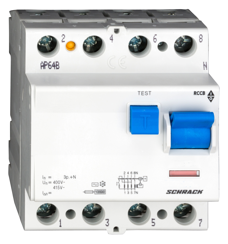 1 Stk FI-Schalter 63A, 4-polig, 300mA, Typ AC BC006130--