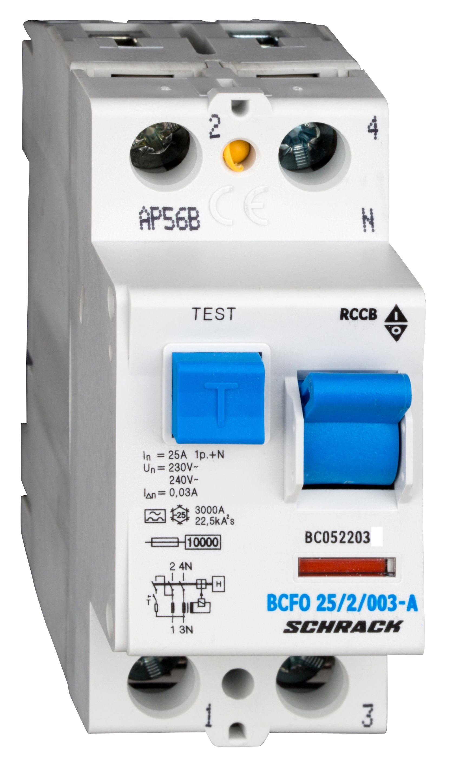 1 Stk FI-Schalter, 25A, 2-polig, 30mA, Typ A (Puls) BC052203--