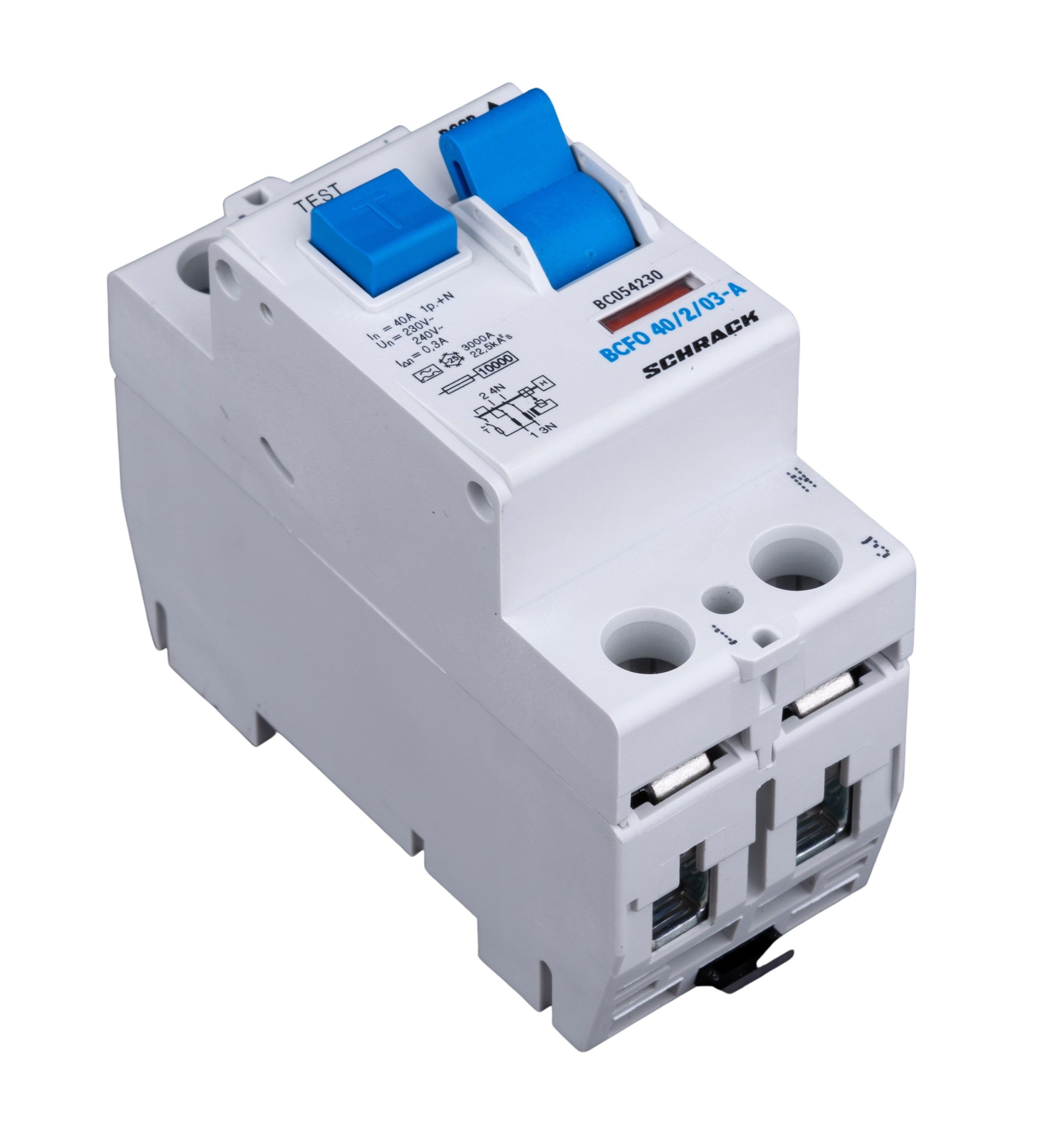 1 Stk FI-Schalter, 40A, 2-polig, 300mA, Typ A (Puls) BC054230--