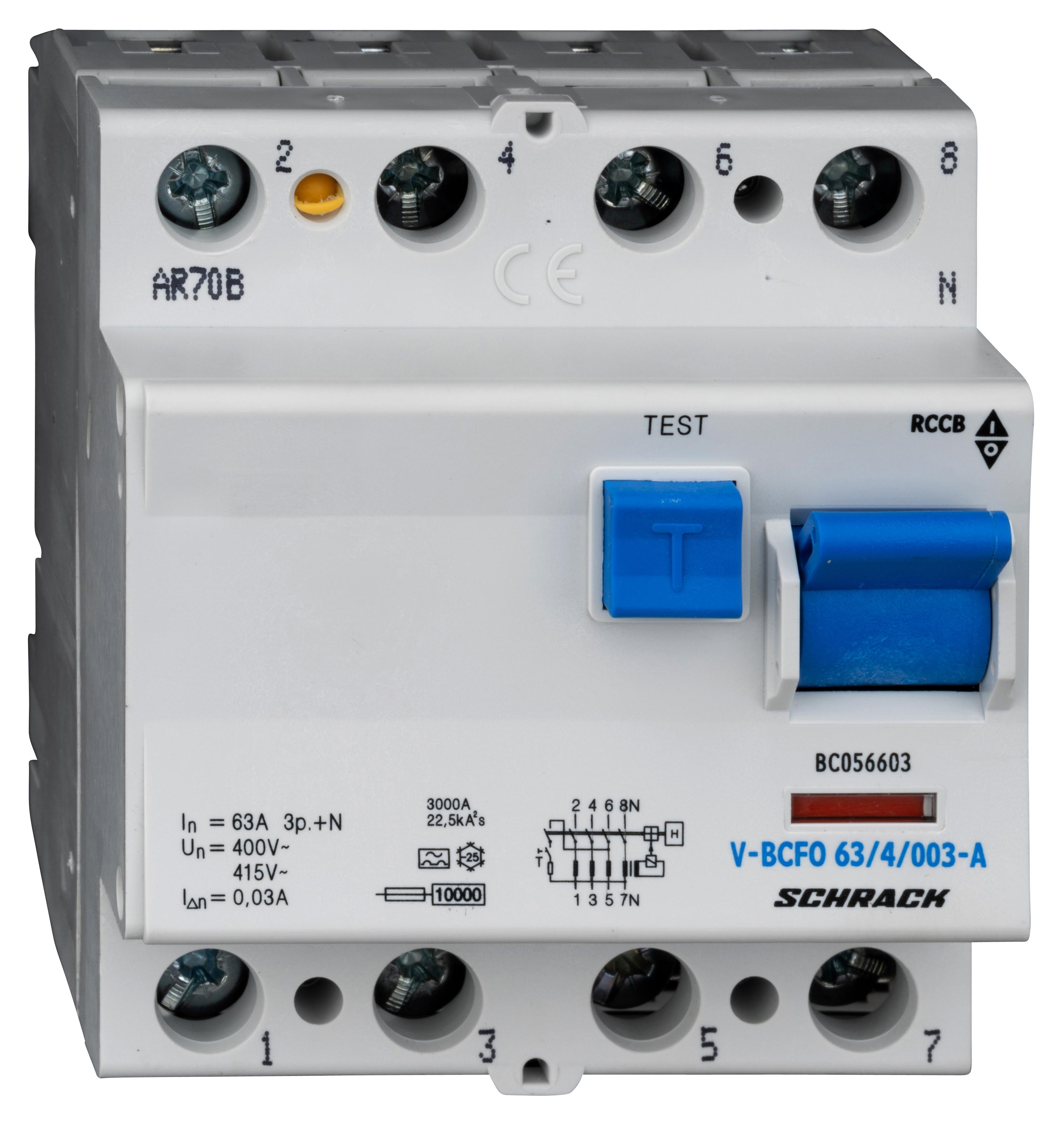 1 Stk FI-Schalter,63A,4-polig,30mA,vsf.,Typ A (Puls) BC056603--