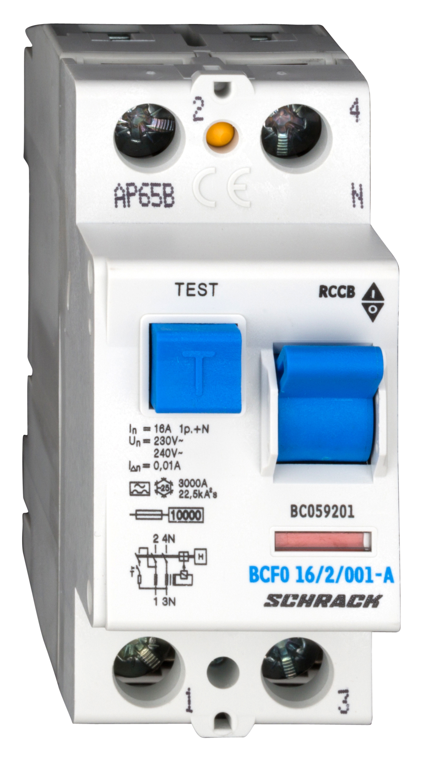 1 Stk FI-Schalter, 16A, 2-polig, 10mA, Typ A (Puls) BC059201--