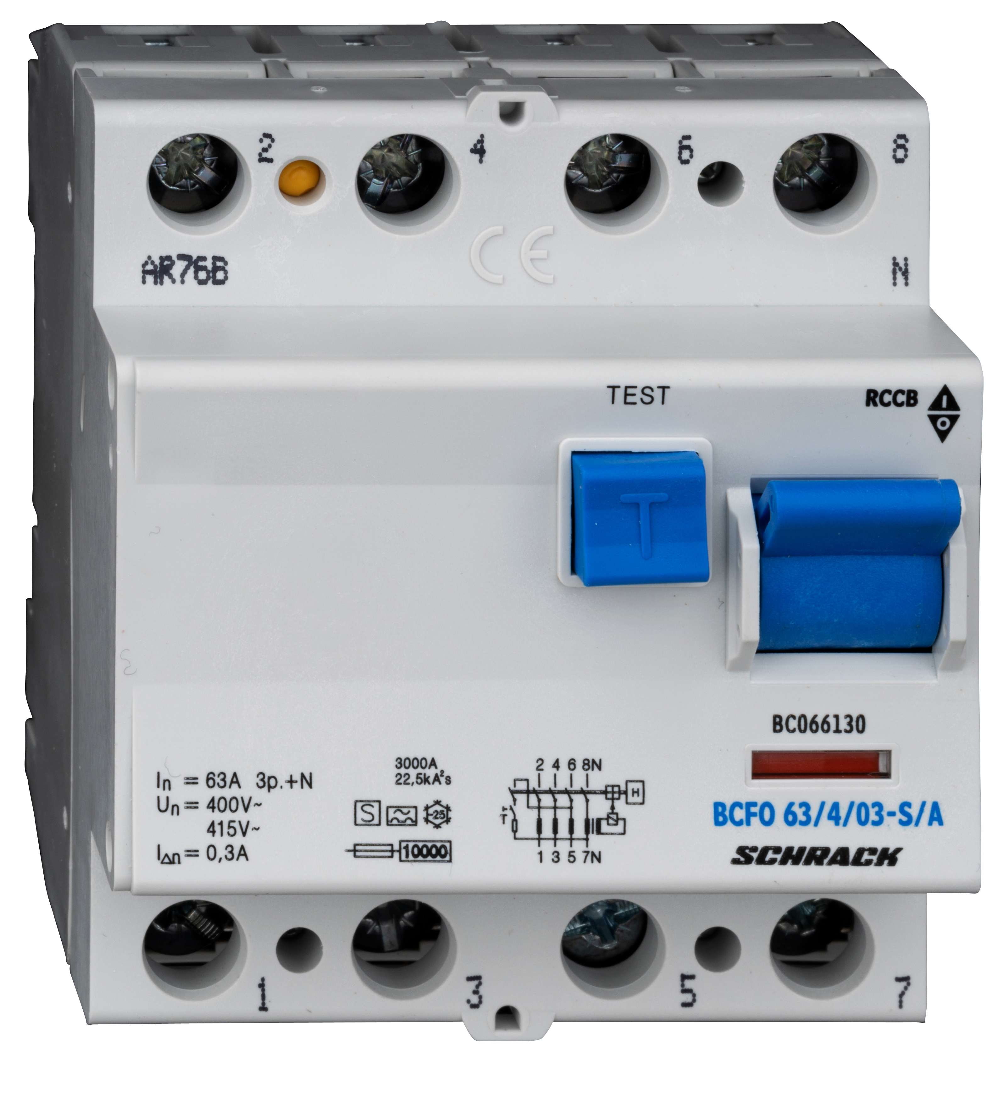 1 Stk FI-Schalter, 63A, 4-polig, 300mA,Bauart S, Typ A (Puls) BC066130--