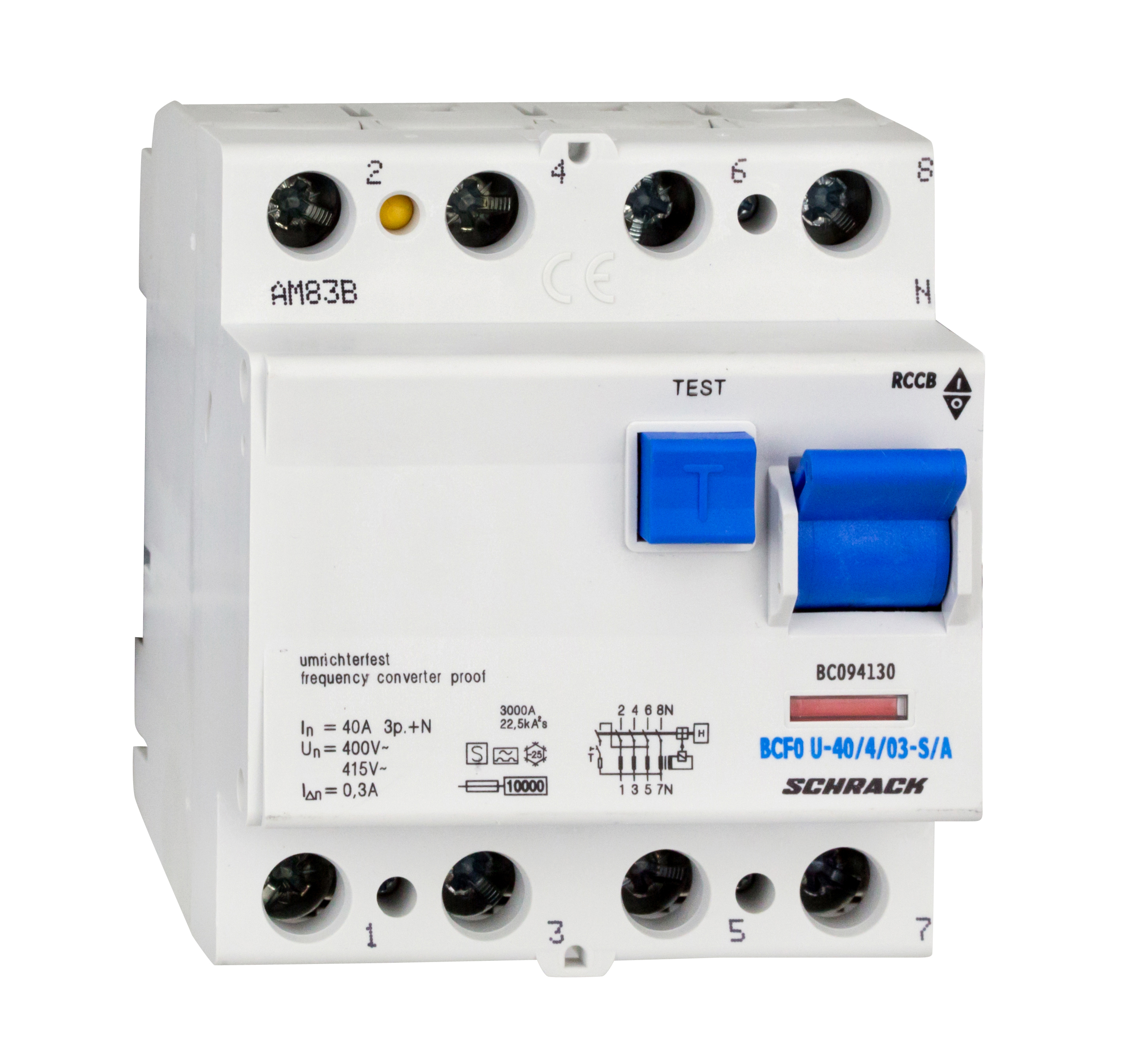 1 Stk FI-Schalter, FU fest, 40A, 4-polig, 300mA, Bauart S, Typ A BC094130--