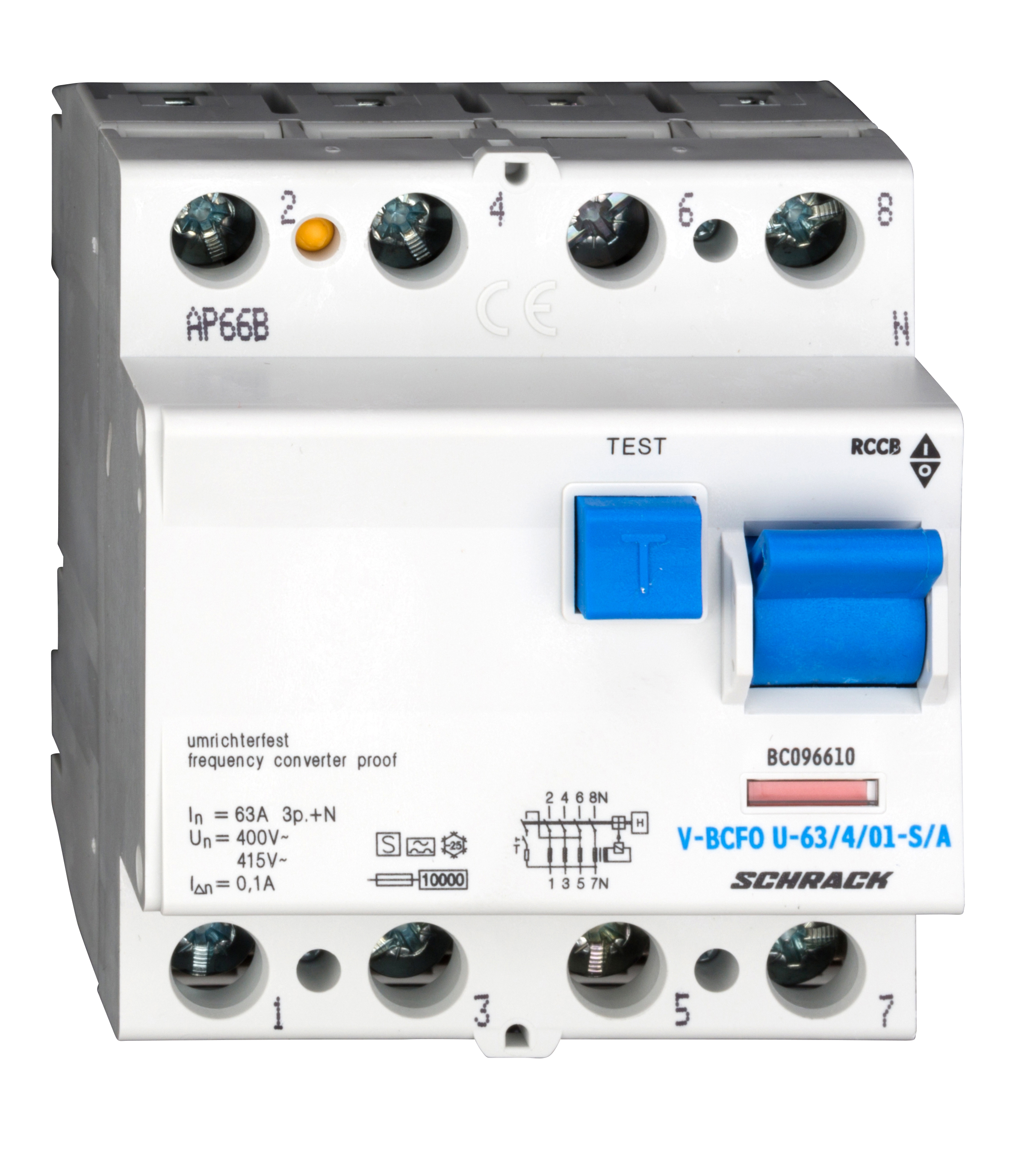 1 Stk FI-Schalter, FU fest, 63A, 4-polig, 100mA, vsf., S, Typ A BC096610--