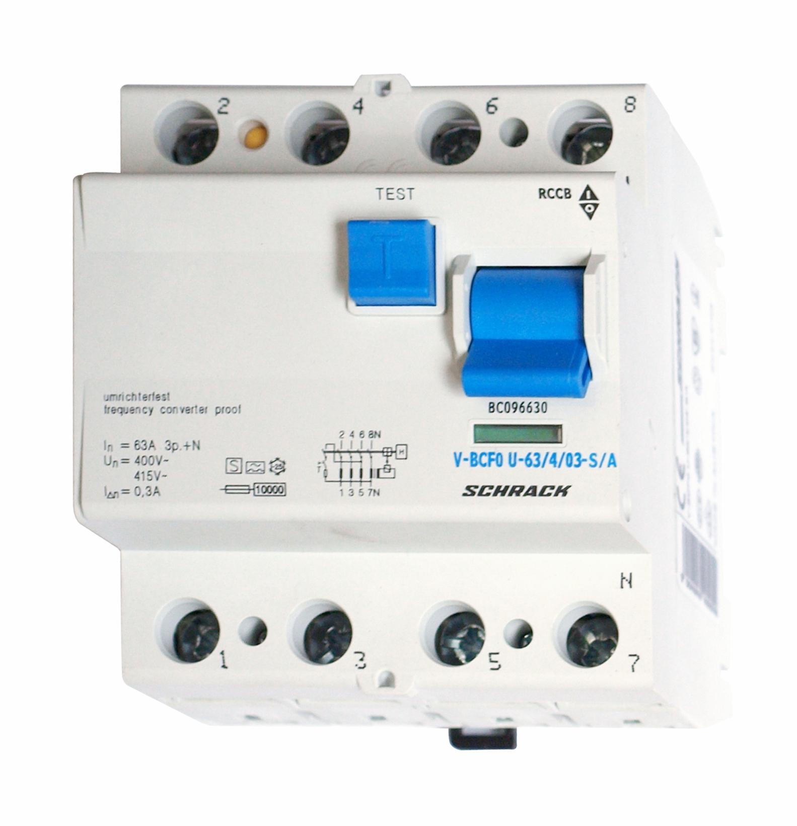 1 Stk FI-Schalter, FU fest, 63A, 4-polig, 300mA, vsf., S, Typ A BC096630--
