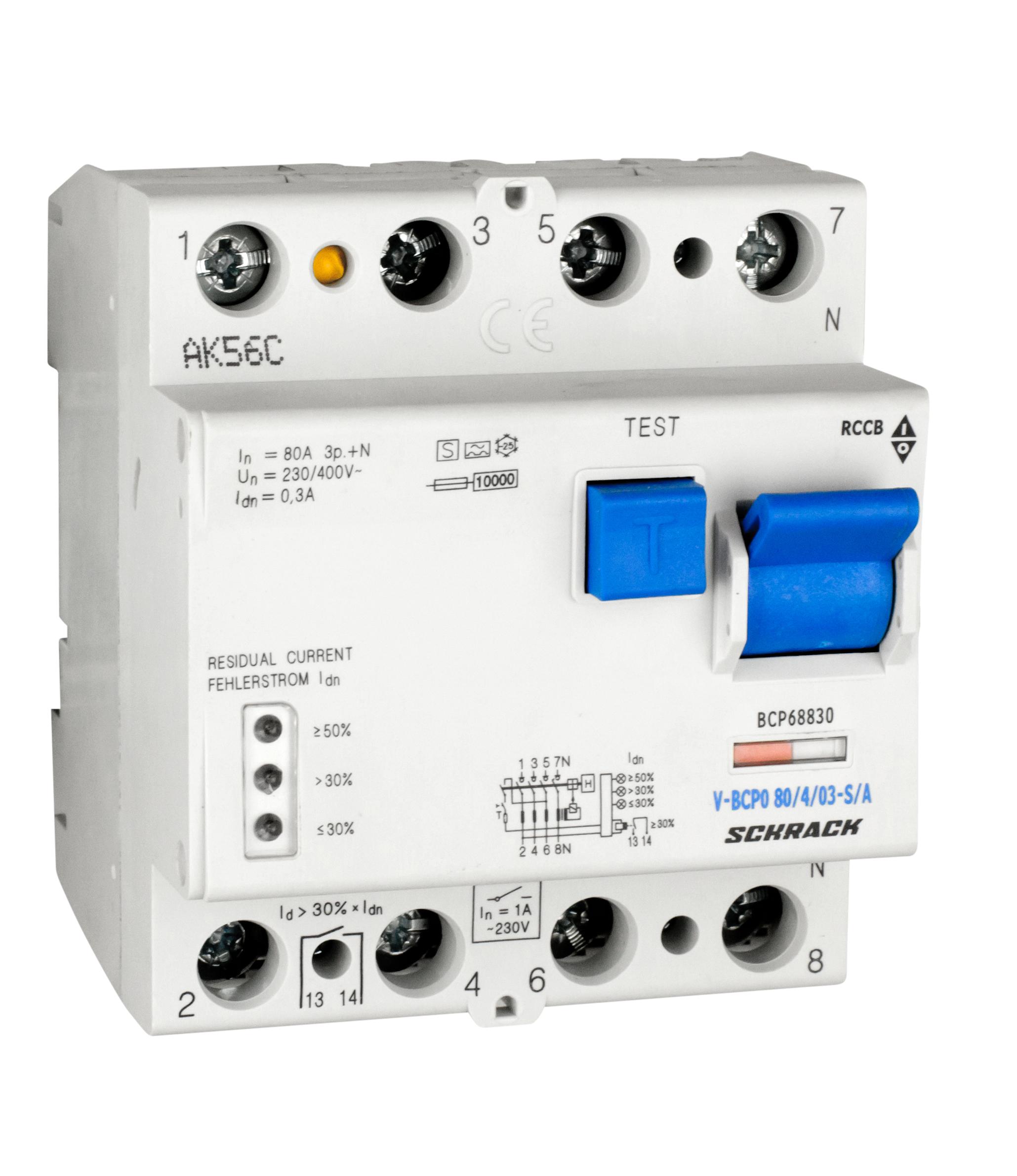 1 Stk PRIORI FI-Schalter 80A, 4-pol, 300mA, vsf, Bauart S, Typ A BCP68830--