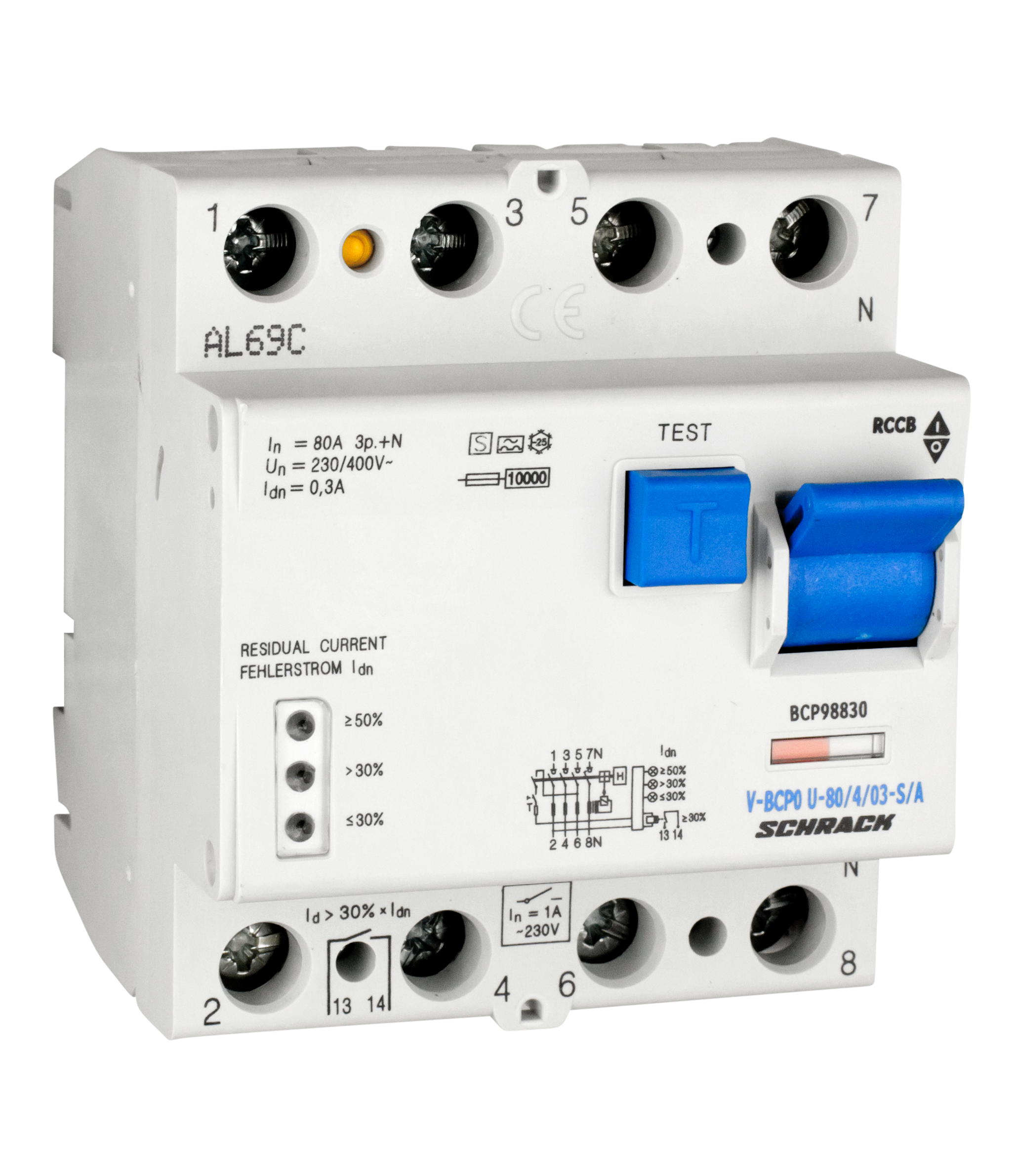 1 Stk PRIORI FI-Schalter 80A, 4-pol, 300mA, vsf, S, Typ A, FU-fest BCP98830--