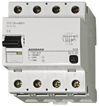 1 Stk FI-Schalter 125A, 4-polig, 300mA, Typ AC BD037130-A