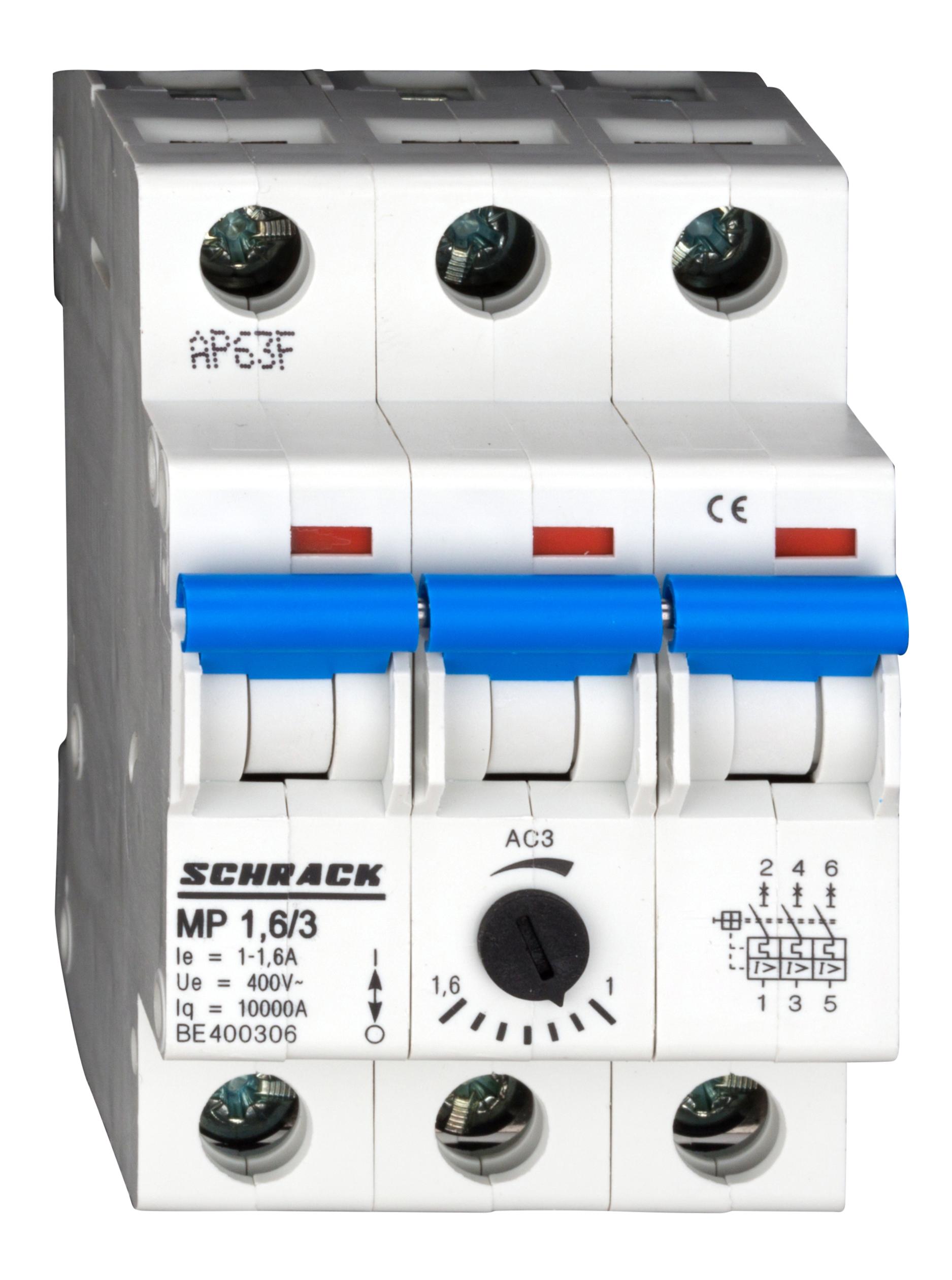 1 Stk Motorschutzschalter 1,0-1,6A, 3-polig BE400306--