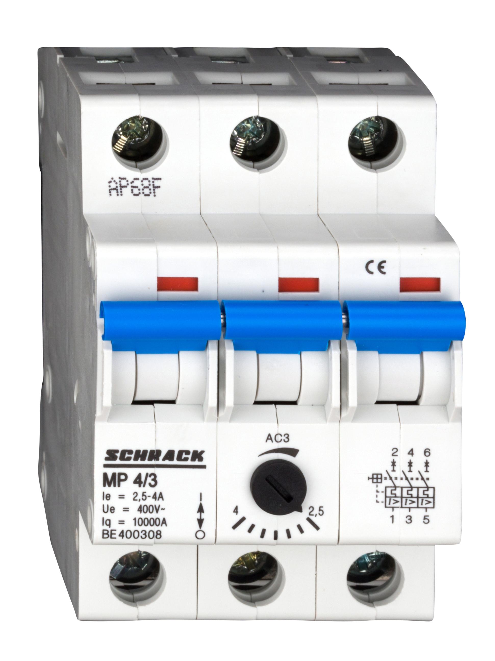 1 Stk Motorschutzschalter 2,5-4,0A, 3-polig BE400308--