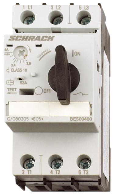 1 Stk Motorschutzschalter 0,25A Baugröße 0 BES00025--