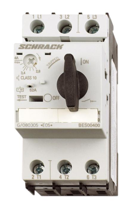 1 Stk Motorschutzschalter 4,00A Baugröße 0 BES00400--