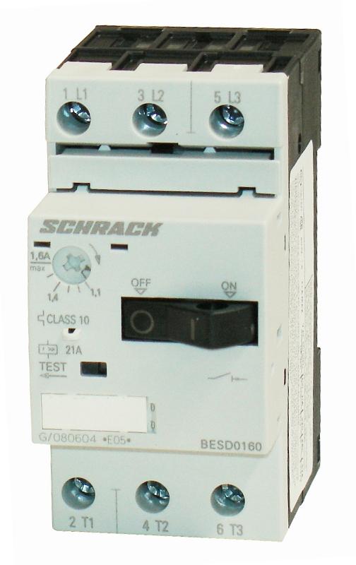 1 Stk Motorschutzschalter 1,60A Baugröße 00 BESD0160--