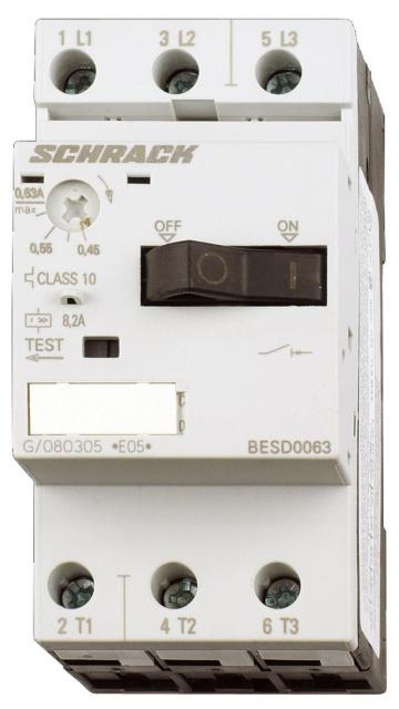 1 Stk Motorschutzschalter 2,00A Baugröße 00 BESD0200--