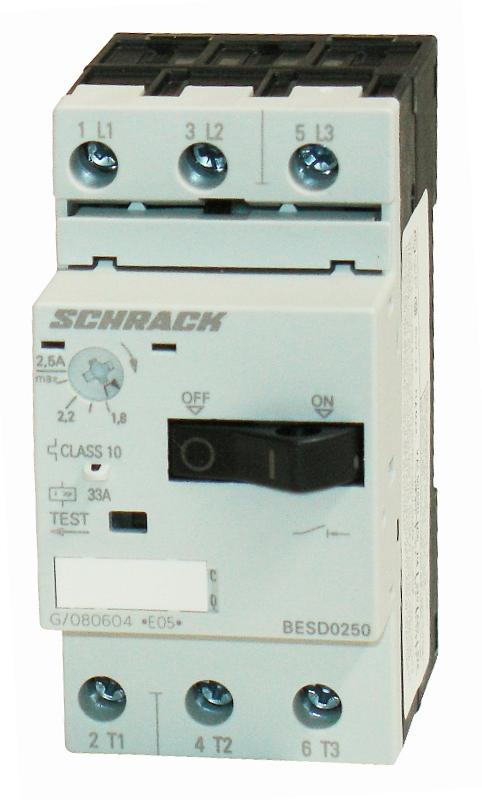 1 Stk Motorschutzschalter 2,50A Baugröße 00 BESD0250--