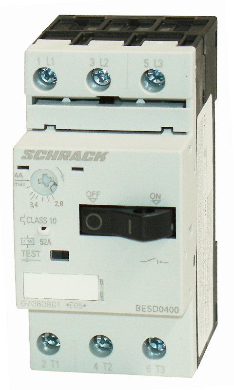 1 Stk Motorschutzschalter 4,00A Baugröße 00 BESD0400--