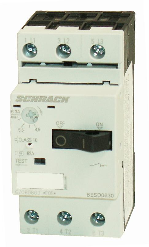 1 Stk Motorschutzschalter 6,30A Baugröße 00 BESD0630--