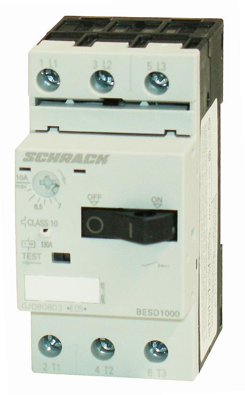 1 Stk Motorschutzschalter 10,0A Baugröße 00 BESD1000--