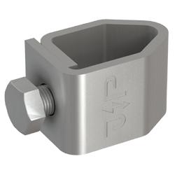 1 Stk Tiefenerder Anschlussklemme V4A Ø20mm für Rundleiter Ø10mm BG002018--