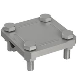 1 Stk Kreuzklemme St/fvz fl. 40mm/Ø 8-10mm, 2-teilig BG021044--