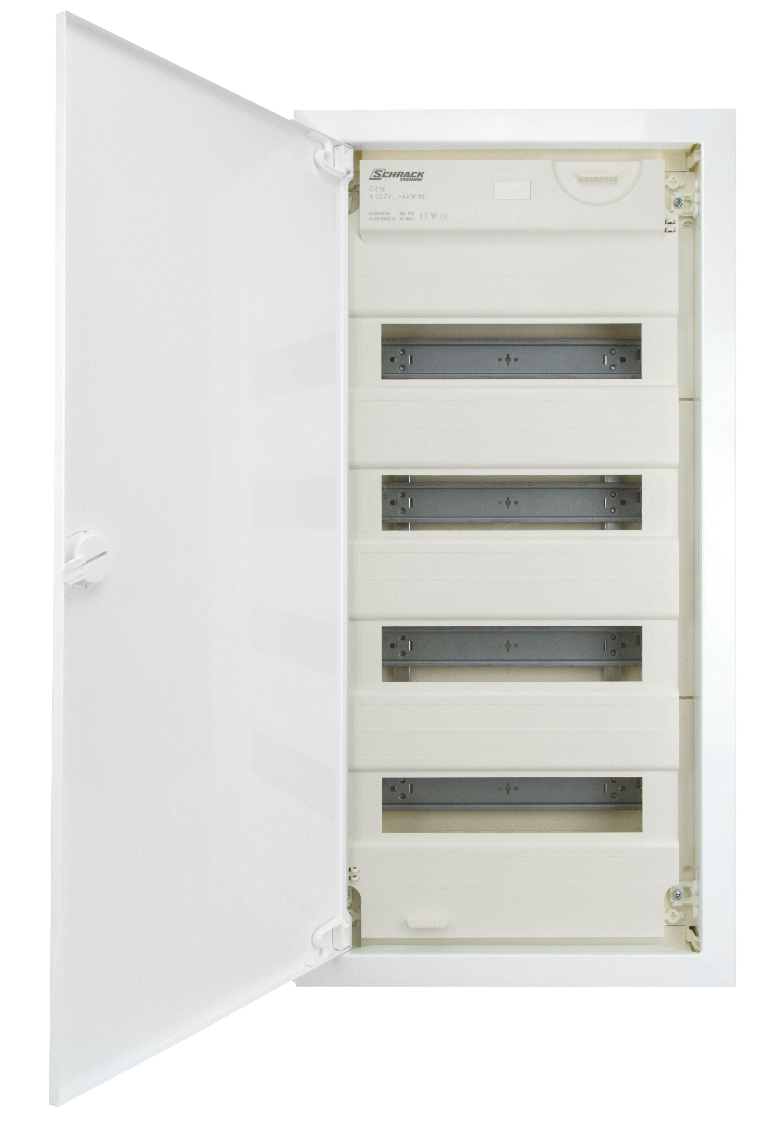 1 Stk UP Wohngsverteiler KVM 4-r. 48/56TE - Mauerwerk Rahmen hoch BK071004-F