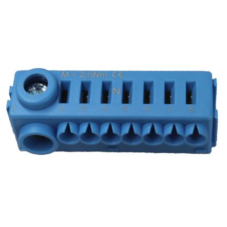 1 Stk Erweiterungssteckklemme N (1x25mm², 7x4mm²), ohne Träger BK071051--