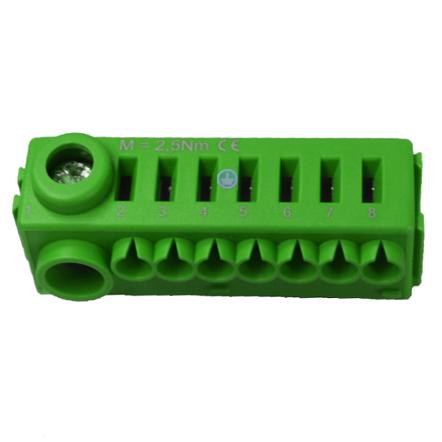 1 Stk Erweiterungssteckklemme PE (1x25mm², 7x4mm²), ohne Träger BK071052--