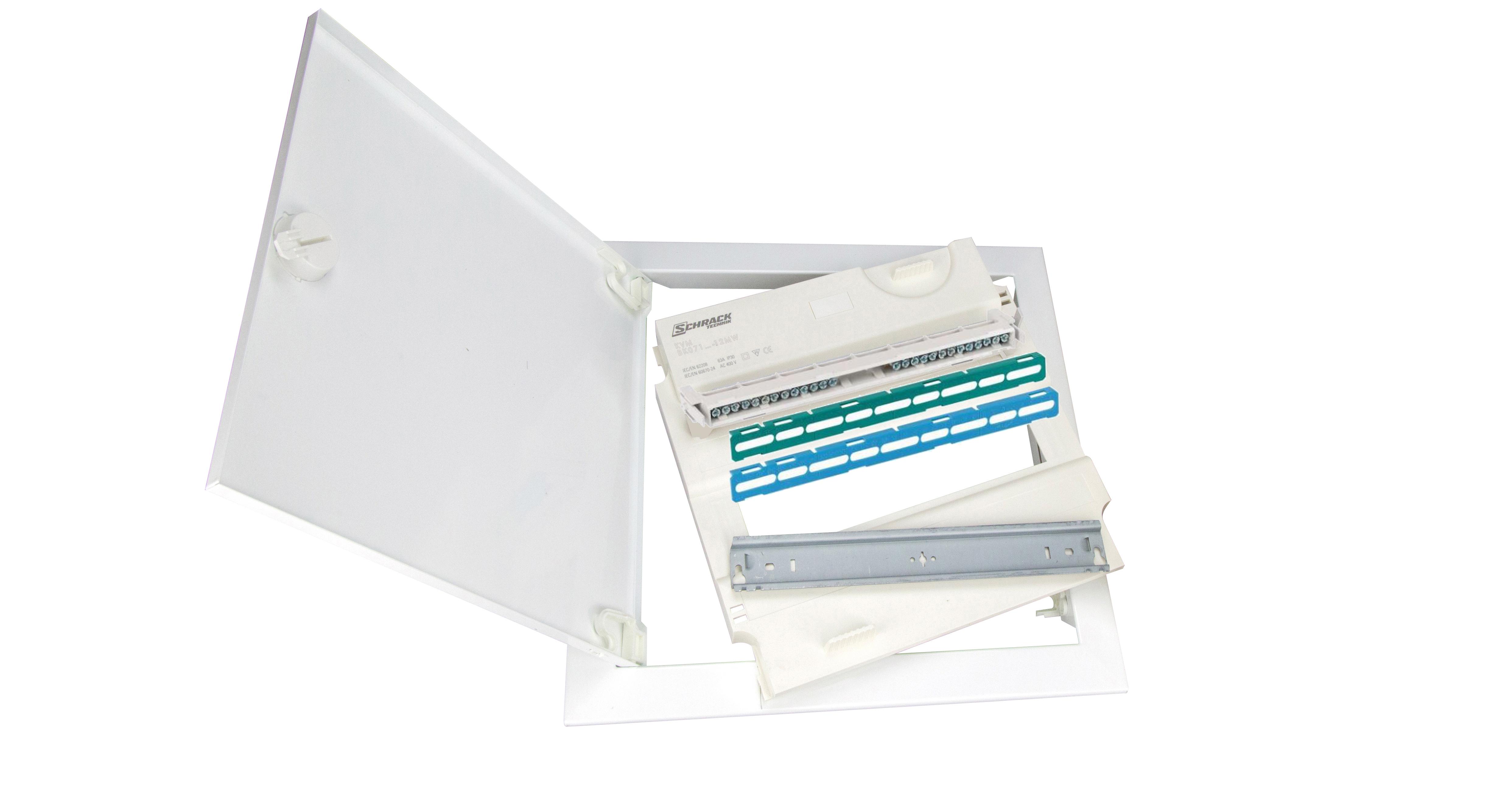 1 Stk Rahmen mit Tür und Einsatz für KVH hoch 1-reihig, 12/14TE BK072201-F