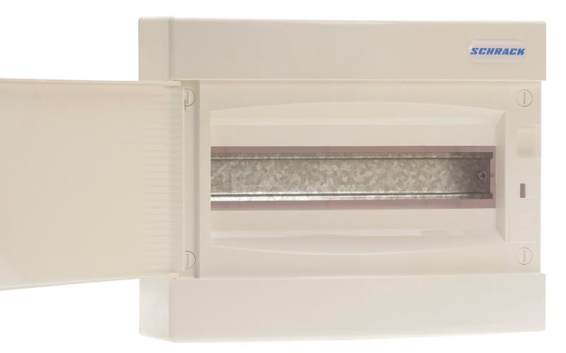 1 Stk AP-Wohnungsverteiler 1-reihig, 12TE, Volltüre BK080151--