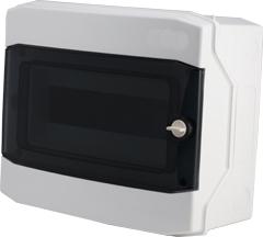 1 Stk AP-Wohnungsverteiler 1-reihig, 12TE, IP65, transparente Tür BK080202--