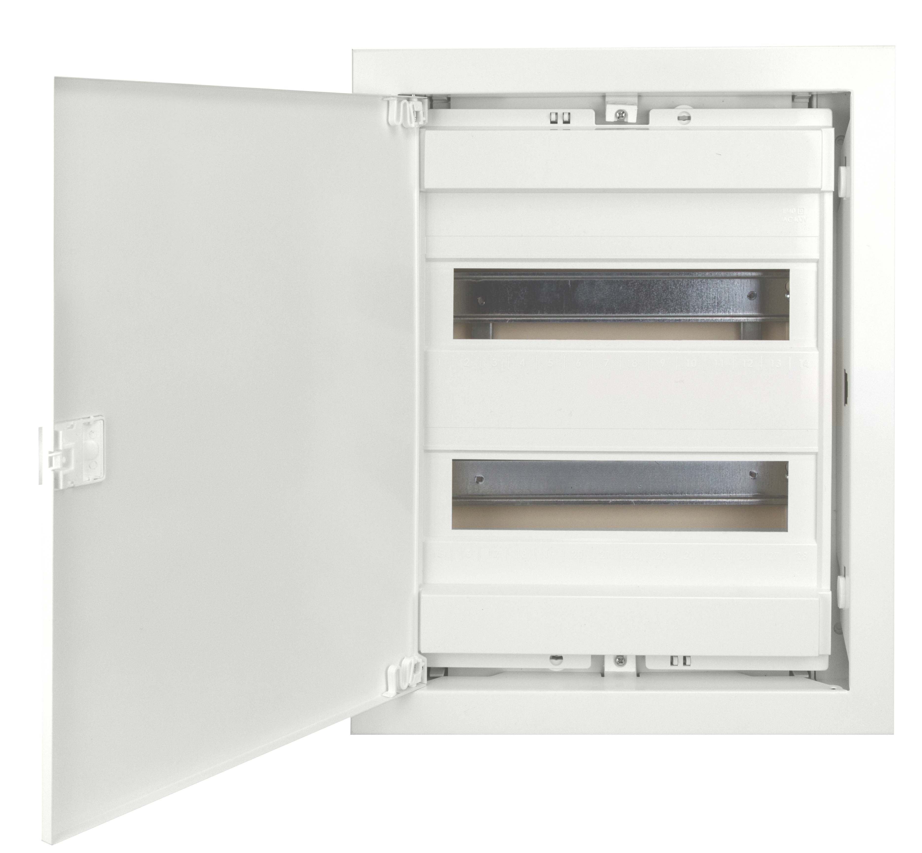 1 Stk UP-Wohnungsverteiler weiss, 2-reihig für Mauerwerk BK0850022-