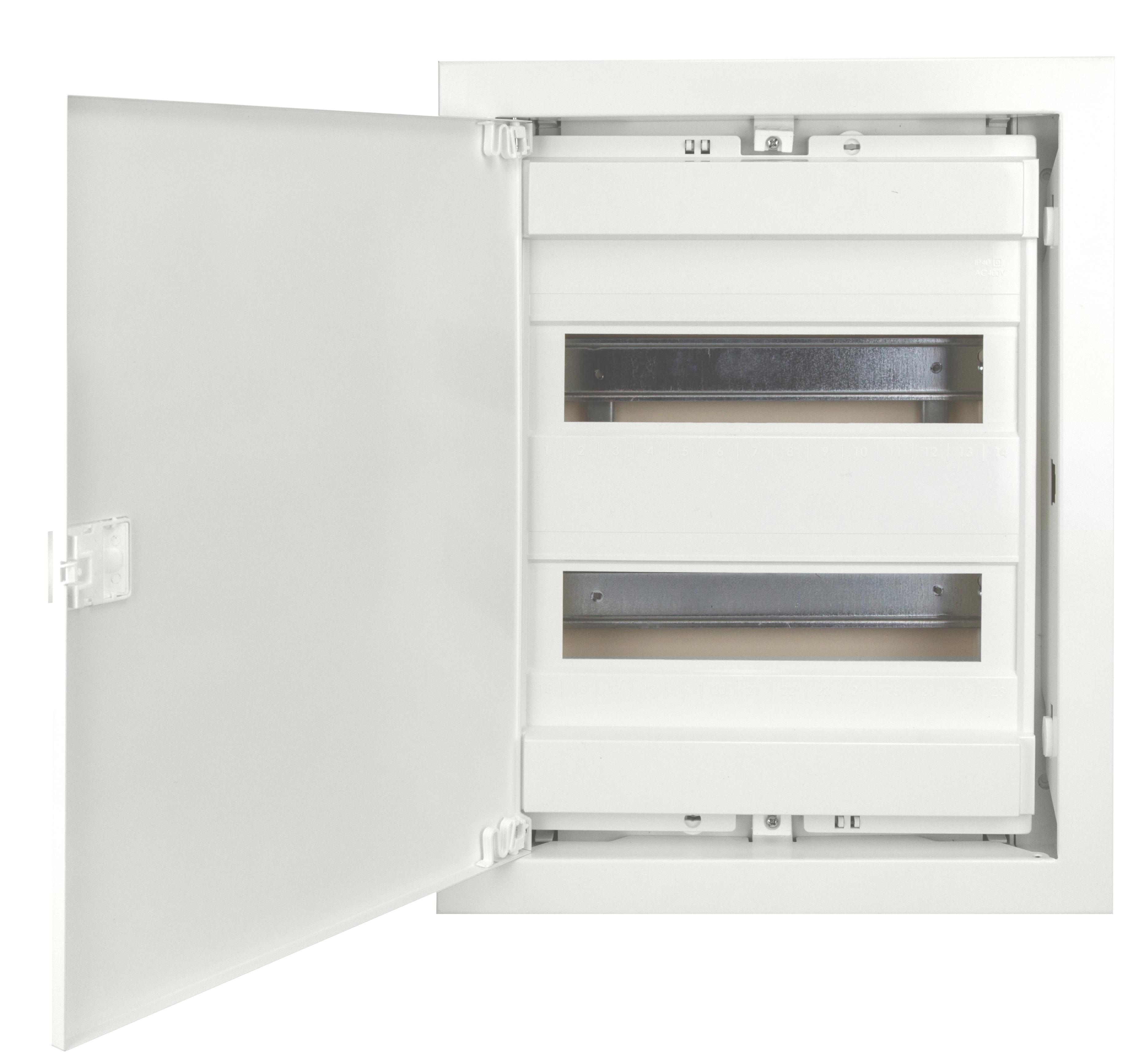 1 Stk UP-Wohnungsverteiler weiss, 2-reihig für Hohlwand BK085052--