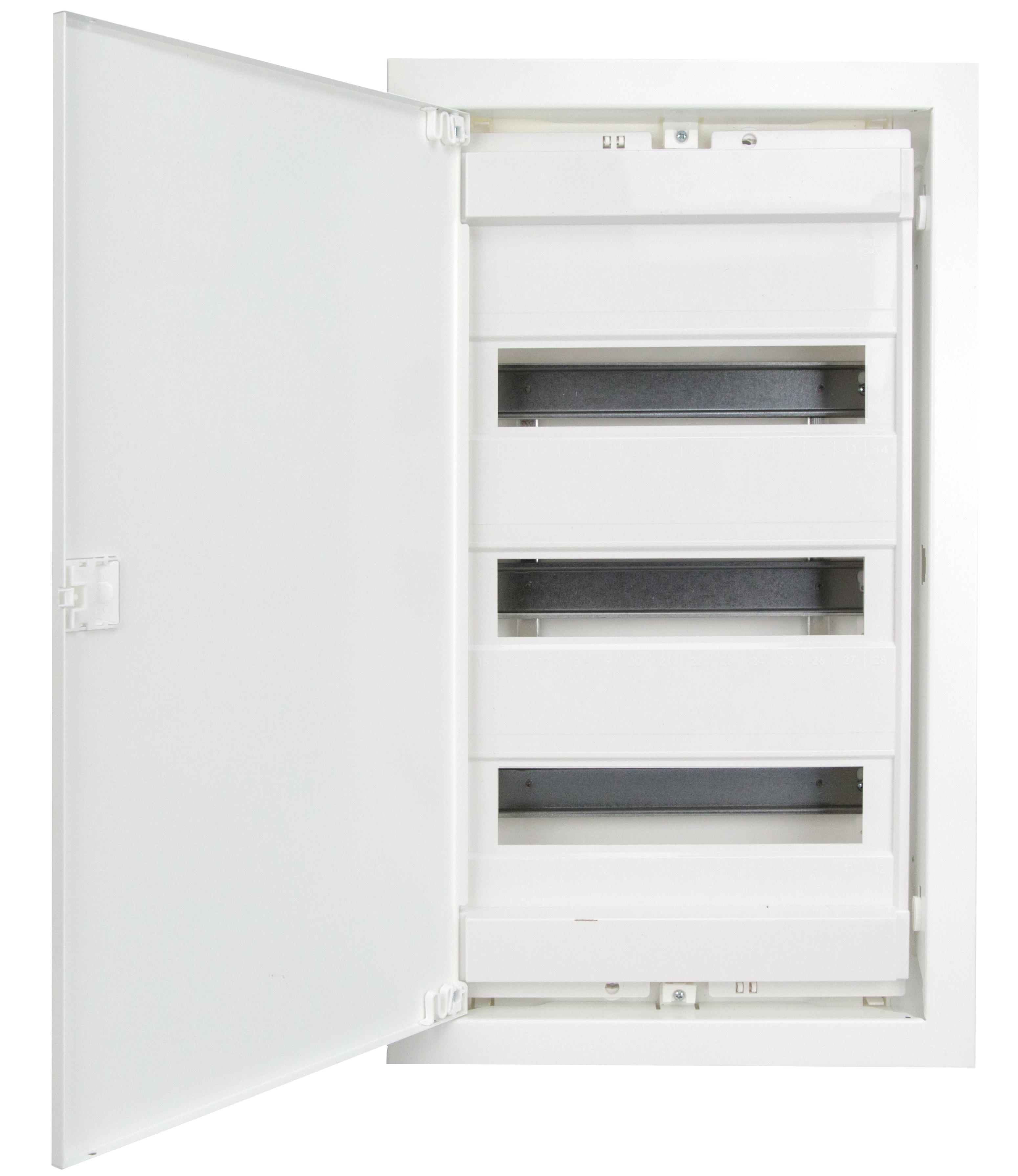 1 Stk UP-Wohnungsverteiler weiss, 3-reihig für Hohlwand BK0850532-