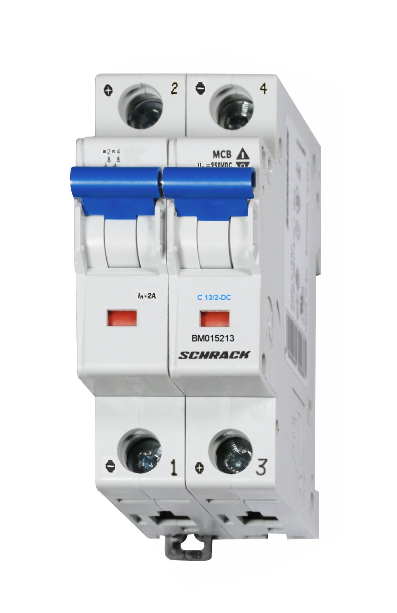 1 Stk DC-Sicherungsautomat, Kennlinie C 13A, 2-polig, 10kA BM015213--