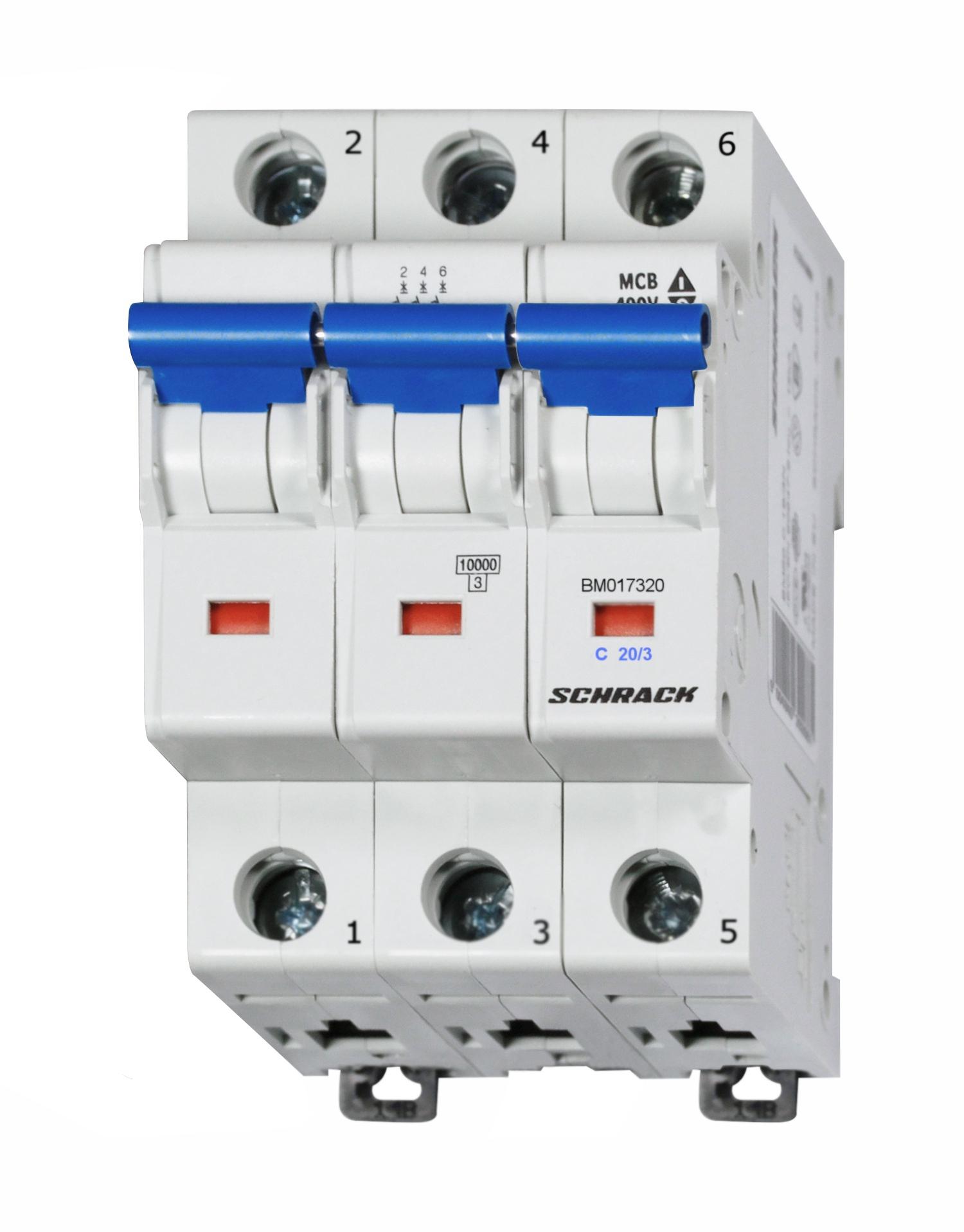 1 Stk Sicherungsautomat, Kennlinie C, 20A, 3-polig, 10kA BM017320--