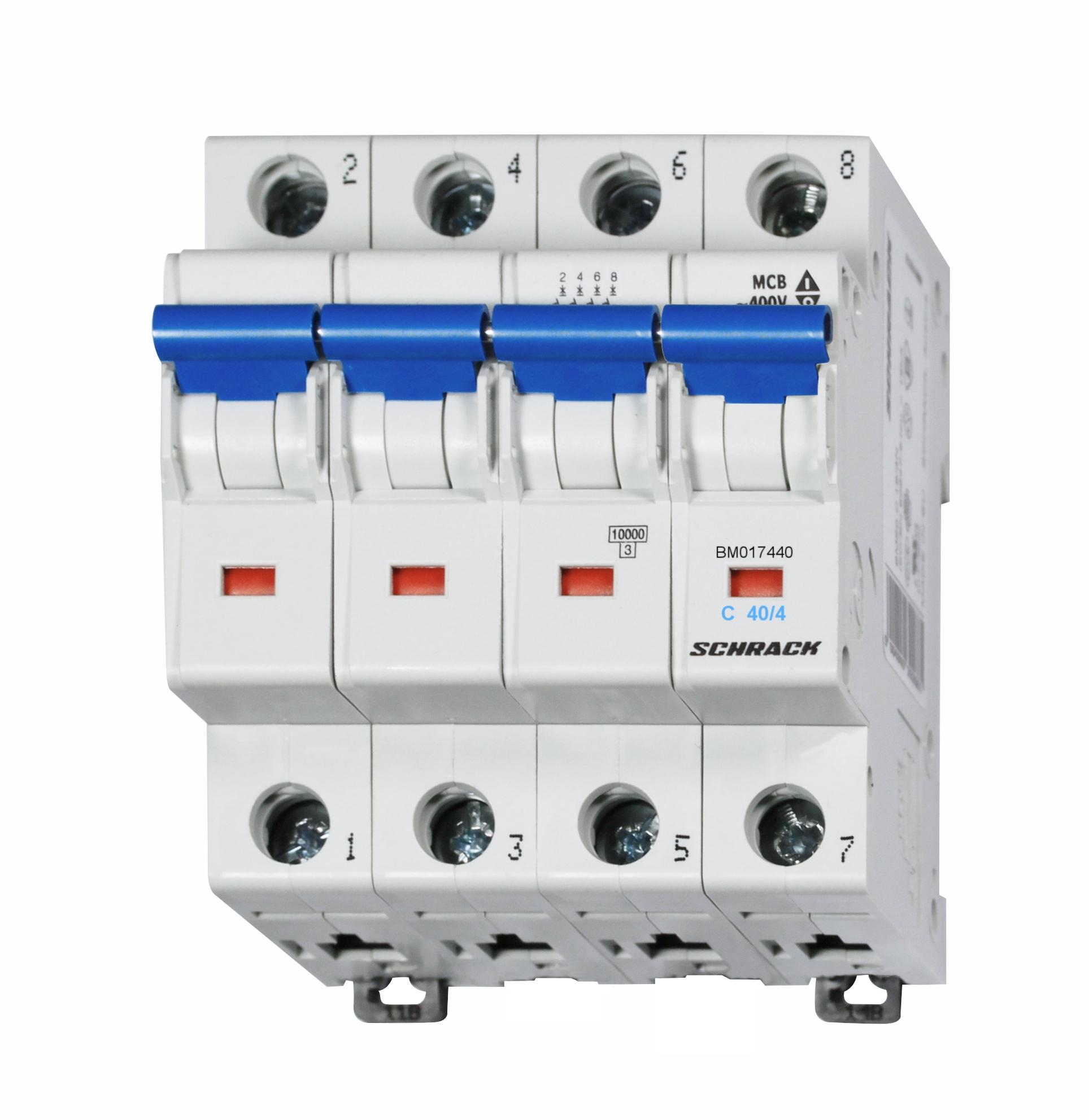 1 Stk Sicherungsautomat, Kennlinie C, 40A, 4-polig, 10kA BM017440--