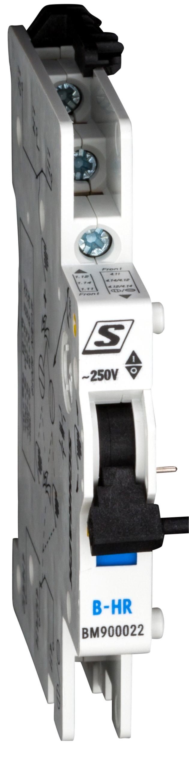 1 Stk Meldehilfskontakt 2 WE, 250VAC/4A, umschaltbar, schnappbar BM900022--