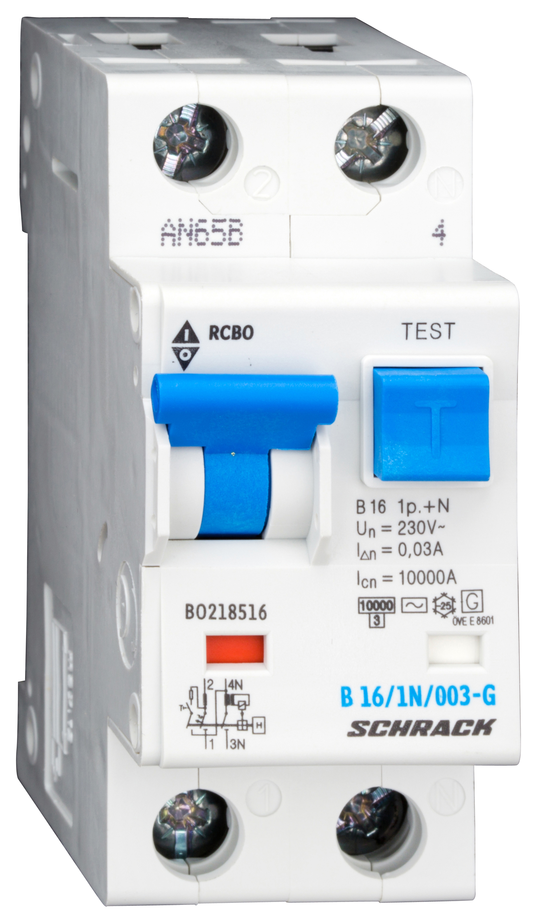 1 Stk LS-FI-Schalter,Kennl. B,16A,30mA,1-polig+N, Bauart G,Typ AC BO218516--