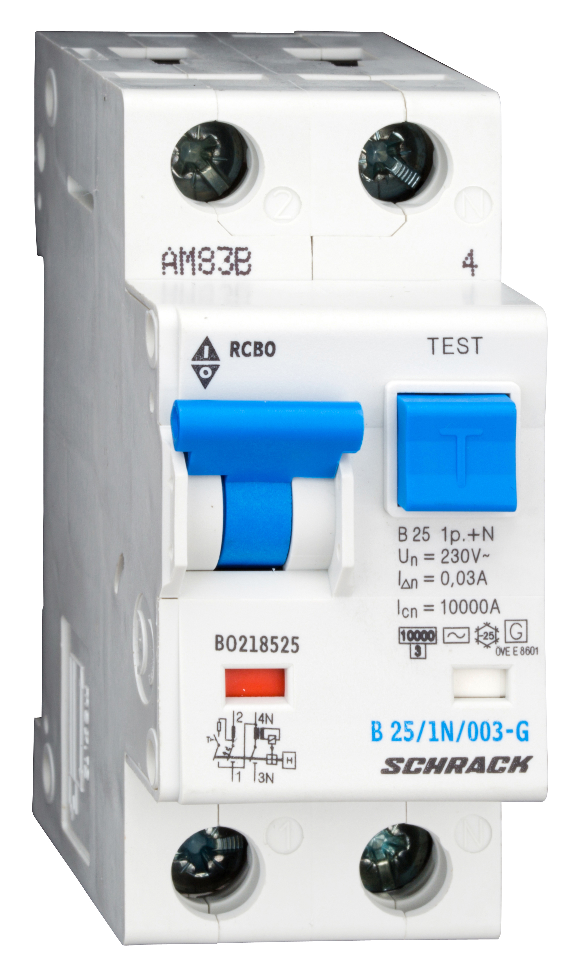 1 Stk LS-FI-Schalter,Kennl.B,25A,30mA,1-polig+N, Bauart G,Typ AC BO218525--