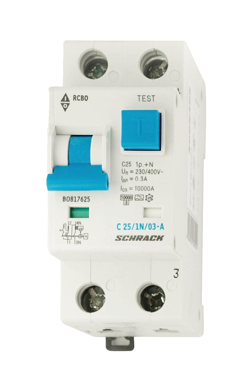 1 Stk LS-FI-Schalter, Kennlinie C, 25A, 300mA, 1-polig+N, Typ A BO817625--