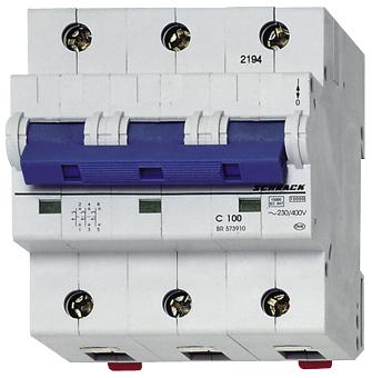 1 Stk Hochstromsicherungsautomat, Kennlinie C 40A, 3-polig BR573400--