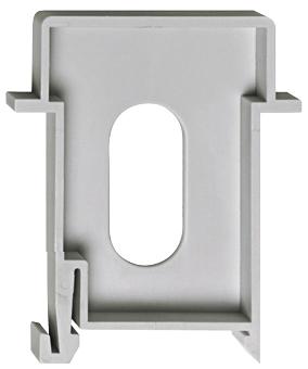 1 Stk Blindmodul, 45mm, Breite 9mm (0,5TE), aufschnappbar BS900026--