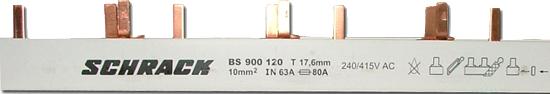 1 Stk Stiftverschienung 3-polig, 10mm² TE = 17,75mm BS900120--