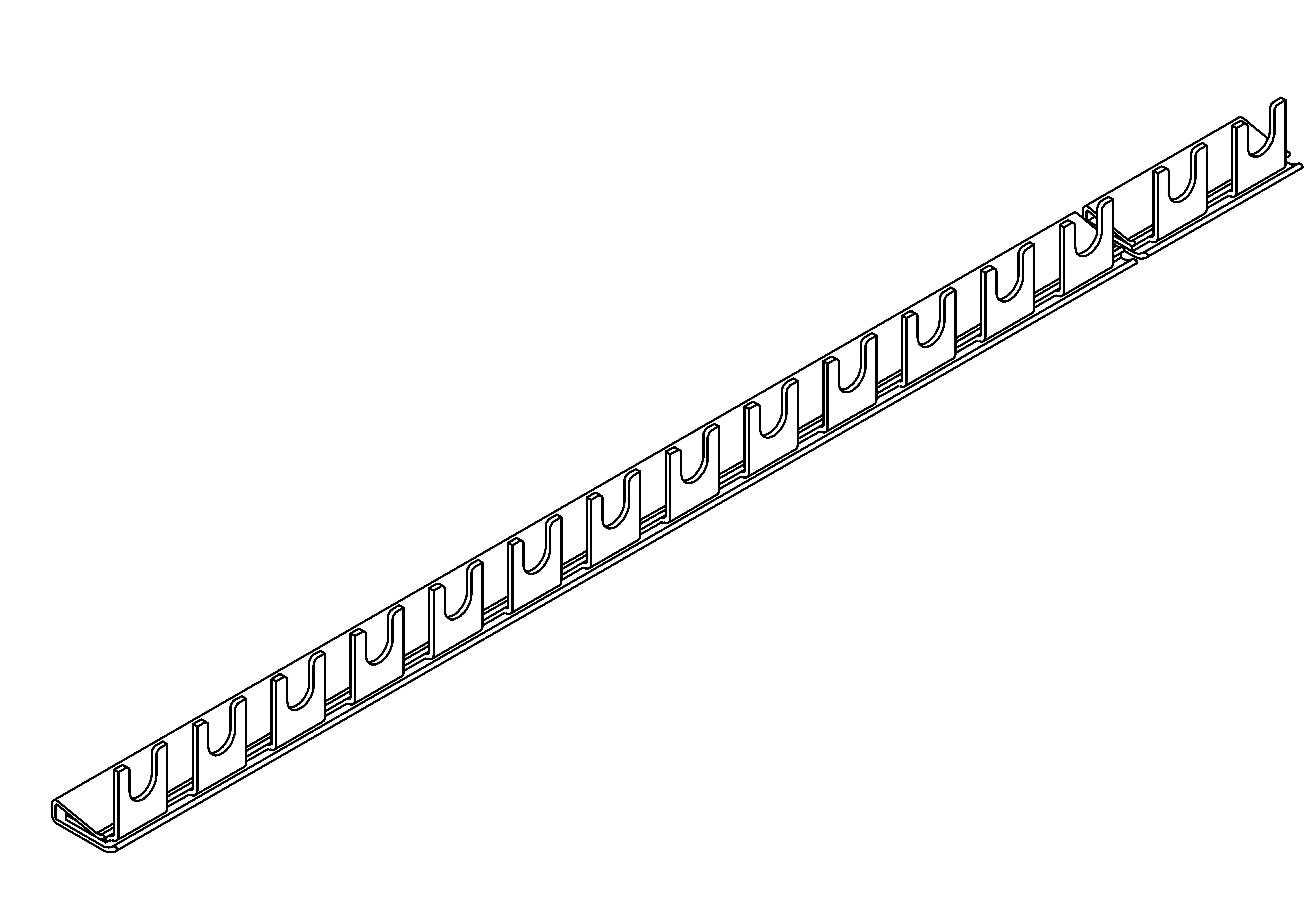 1 Stk Gabelverschienung 1-polig, 10mm², 1m BS900140--
