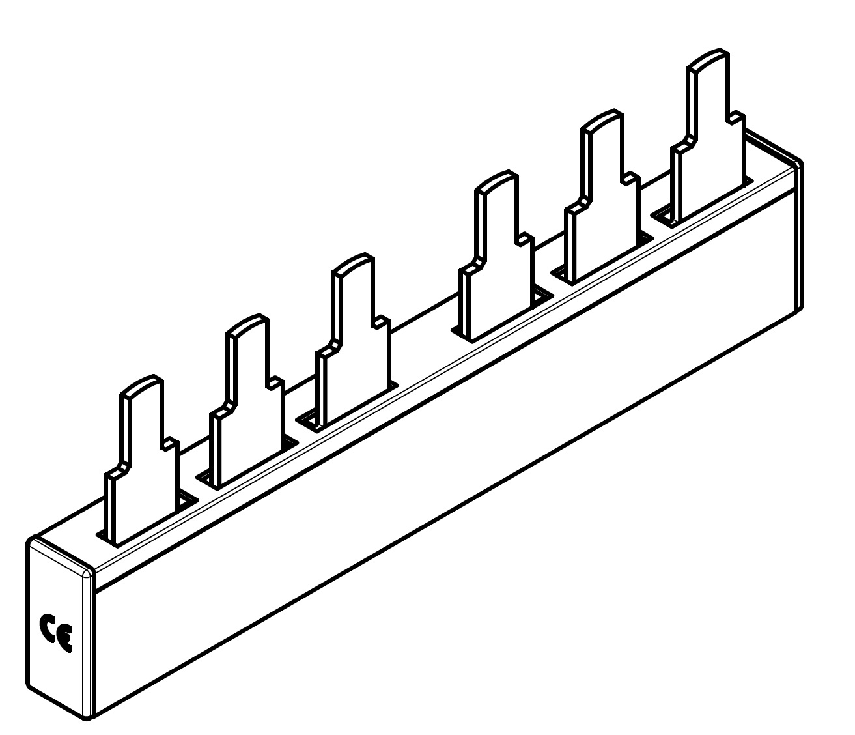 1 Stk ARROW II 000-NH-Trenner-Verschienung 2-fach BS900192-A